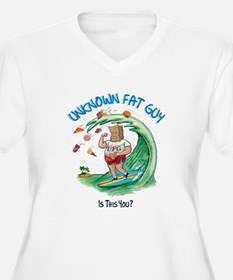 The Unknown Fat Guy - Surf's Up ! Plus Size T-Shir