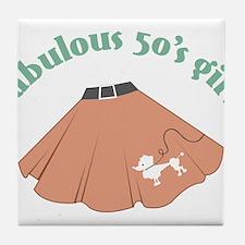 Fabulous 50's Girl Tile Coaster