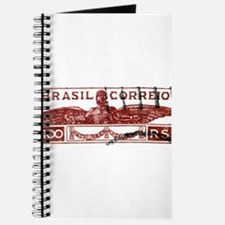 Antique 1933 Brazil Icarus Postage Stamp Journal
