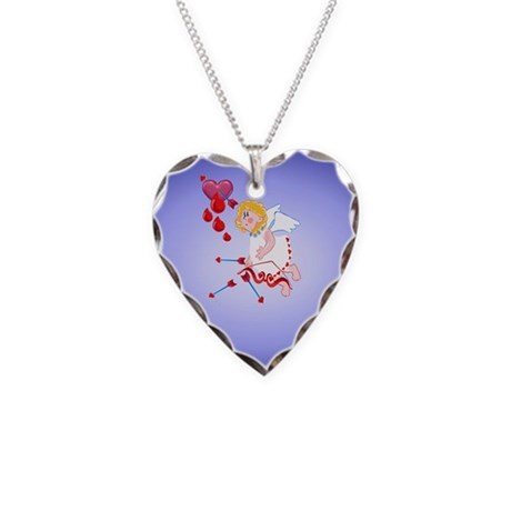 Pillow-Cupid Shoots For The Heart Necklace