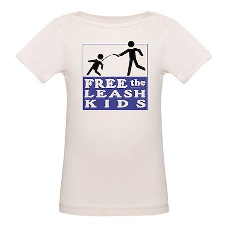 Free The Leash Kids Organic Baby T-Shirt
