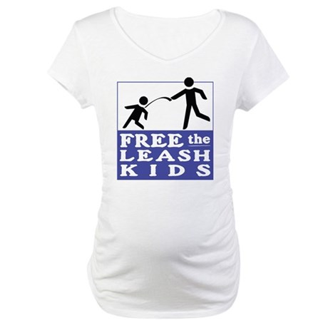 Free The Leash Kids Maternity T-Shirt