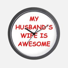 wife Wall Clock