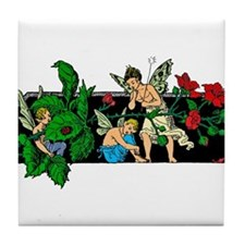 Fairies and roses Tile Coaster