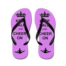 Keep calm and cheer on Flip Flops