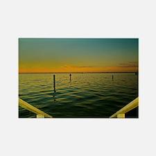 Harbor Sunset Rectangle Magnet