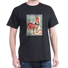 1962 France Gallic Rooster Postage Stamp T-Shirt