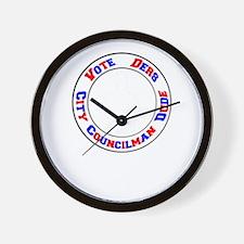 Vote Ders City Councilman Dude Wall Clock