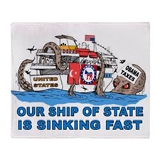 SHIP OF STATE Throw Blanket