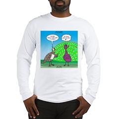 Peacock Preening Long Sleeve T-Shirt
