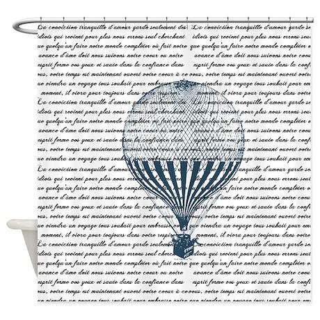 Vintage Hot Air Balloon Shower Curtain