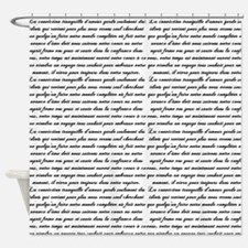 French Words Shower Curtains French Words Fabric Shower Curtain - Shower curtain with words