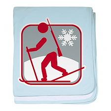 biathlon symbol baby blanket