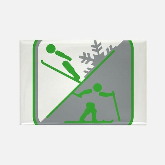 nordische kombination symbol Rectangle Magnet