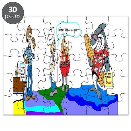 Daddy versus Shark Puzzle