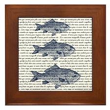 Vintage Fish Trio Framed Tile