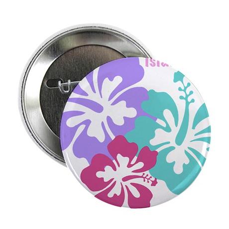 "Island baby - pink 2.25"" Button"
