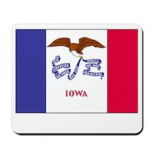 Iowa Flag Picture Mousepad