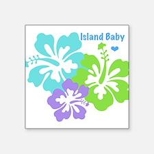 Island baby - blue Sticker