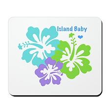 Island baby - blue Mousepad