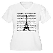 Vintage Eiffel Tower Plus Size T-Shirt