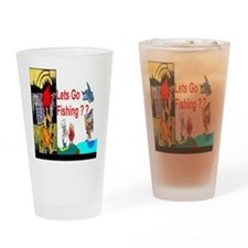 Fishing Time Drinking Glass