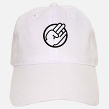 Black White Shocker Baseball Baseball Cap