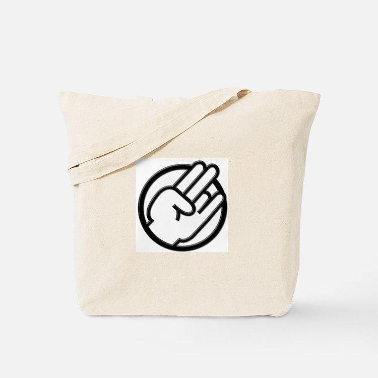 Black White Shocker Tote Bag