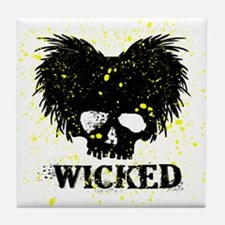 WICKED-BLACK-YELLOW-2 Tile Coaster