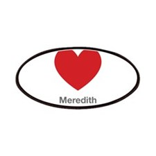 Meredith Big Heart Patches