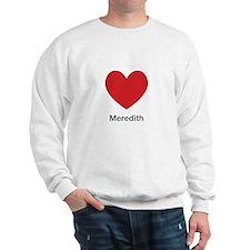 Meredith Big Heart Sweatshirt