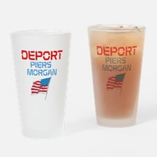 Deport Piers Morgan Drinking Glass