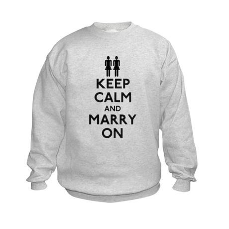 Lesbian Keep Calm and Marry On Kids Sweatshirt