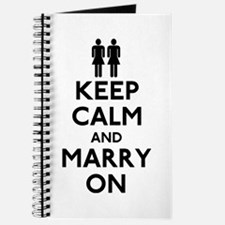 Lesbian Keep Calm and Marry On Journal