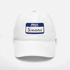 Hello: Simone Baseball Baseball Cap
