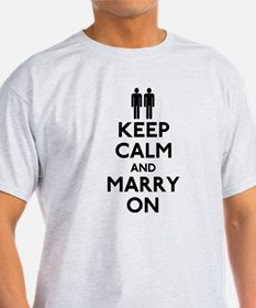Gay Keep Calm and Marry On T-Shirt