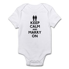 Gay Keep Calm and Marry On Infant Bodysuit
