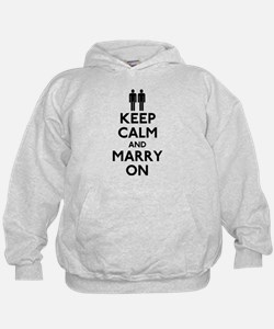 Gay Keep Calm and Marry On Hoodie