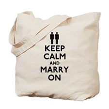 Gay Keep Calm and Marry On Tote Bag
