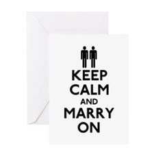 Gay Keep Calm and Marry On Greeting Card