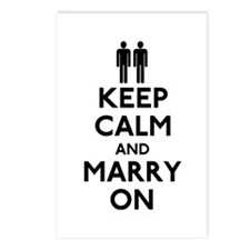 Gay Keep Calm and Marry On Postcards (Package of 8