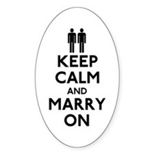 Gay Keep Calm and Marry On Decal