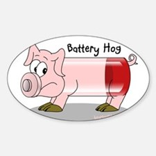 Battery Hog Sticker (Oval)