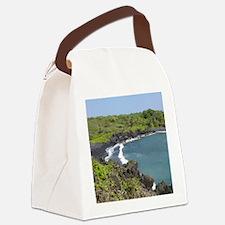 Black Sand Beach Maui Canvas Lunch Bag