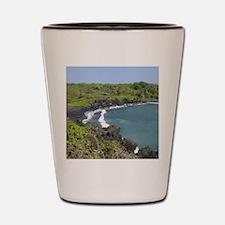 Black Sand Beach Maui Shot Glass