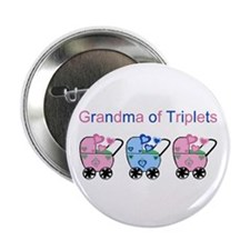 Grandma of Triplets (Girls & Boy) Button