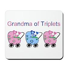 Grandma of Triplets (Girls & Boy) Mousepad