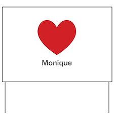 Monique Big Heart Yard Sign