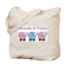 Grandma of Triplets (Girls & Boy) Tote Bag
