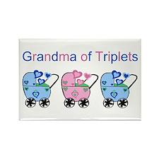 Grandma of Triplets (Boys & Girl) Rectangle Magnet